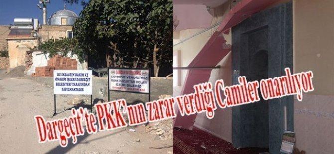 Dargeçit'te PKK'nın zarar verdiği Camiler onarılıyor