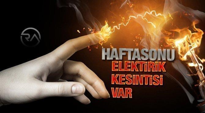 Midyat'ta hafta sonu elektrik kesintisi uygulanacak