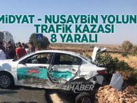 Midyat - Nusaybin Yolunda Trafik Kazası 8 Yaralı